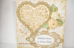 Romantyczna kartka ślubna nr 1