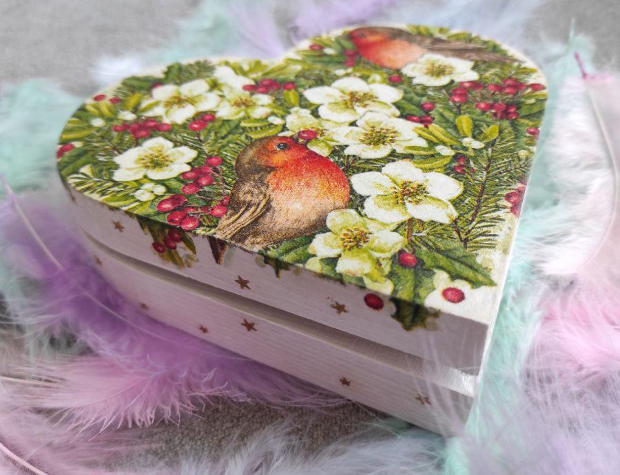 Pudełko ozdobne Świąteczne Serce - Świąteczne Serce 3