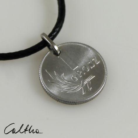 Grosik - wisiorek moneta