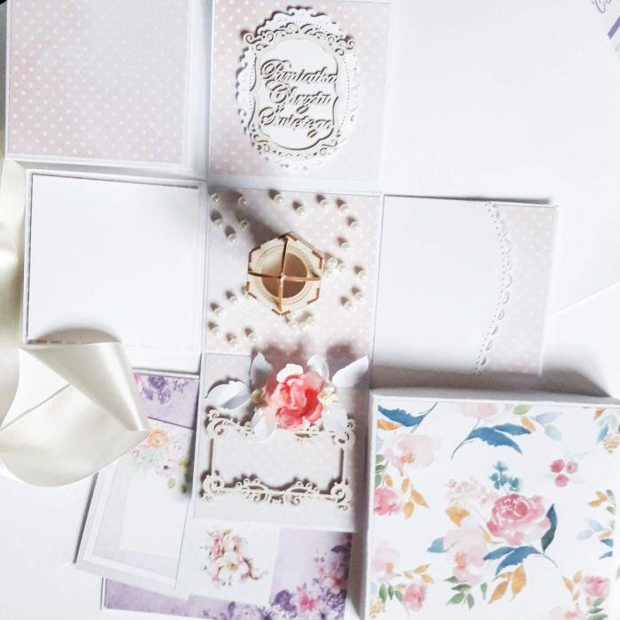 Pamiątka Chrztu dla dziewczynki-kartka box