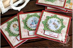 Kartka Boże Narodzenie z tłem i grafiką m