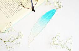 Zakładka do książki Piórko - błękitne ombre