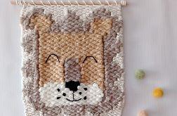 Makatka z lwem dekoracja lew ozdoba ścienna