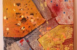 Abstrakcyjny obraz akryl