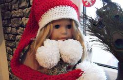 Szydełkowa czapka Świętego Mikołaja