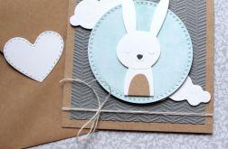 króliś Maryś - kartka na roczek, urodzinki