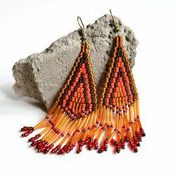 Indianskie kolczyki Fenix BOHO ETNO