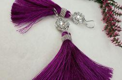 kolczyki purpurowe