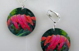 Jesienne liście - klipsy