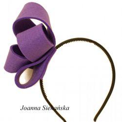 Fascynator fiolet 13cm