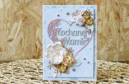 Kochanej Mamie - kartka błękitna