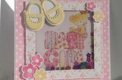 Kartka na narodziny dziewczynki