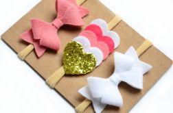 FairyBows zestaw opasek 3 sztuki brokat