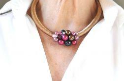 Naszyjnik z lnu i szklanych pereł Maame
