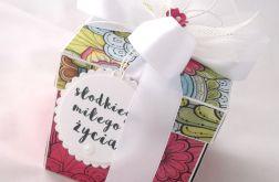 Pudełko na ślub Witraż Różowy
