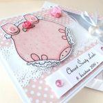Słodki Drobiazg - Kartka Dla dziewczynki - różowe body