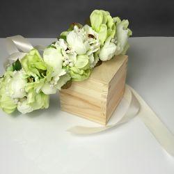 Zielony wianek ślubny