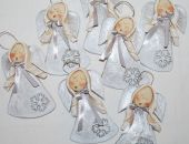 Srebrny puch - aniołki, ozdoba, prezenty dla gości