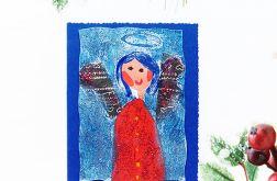 Kartka świąteczna rustykalny aniołek nr 1