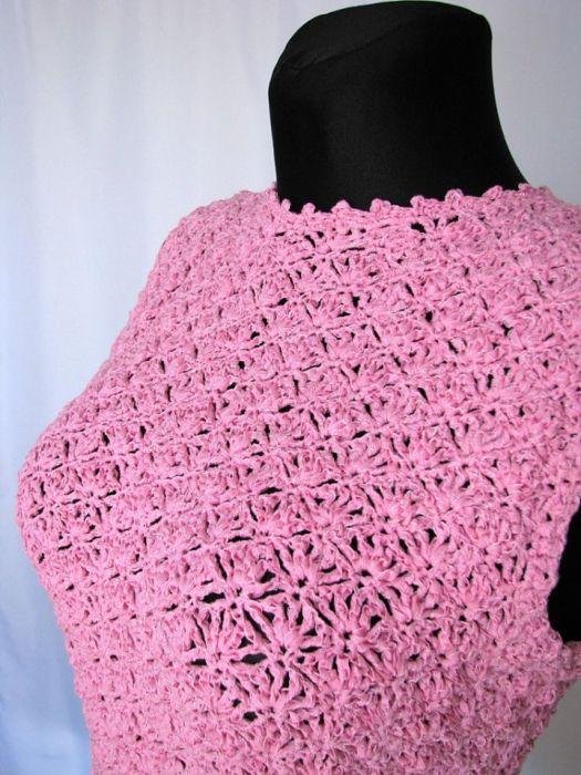 Różowa bluzka bez rękawów