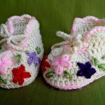 Buciki - Kolorowe kwiatki -