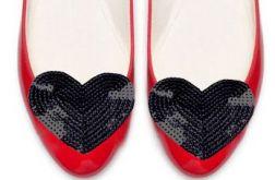 black heart - klipsy do butów