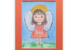 Aniołek obrazek malowany nr 14