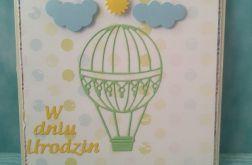Kartka urodzinowa Zielony Balonik
