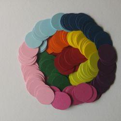 scrapki dla dzieci-kolorowe kółeczka (200szt)