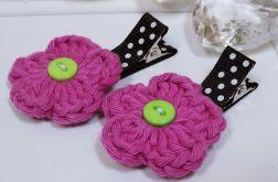 spinki handmade 2 szt. kwiatki7