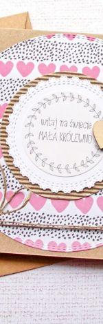 kartka z okazji narodzin dziewczynki III