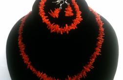 Komplet biżuterii z korala naturalnego