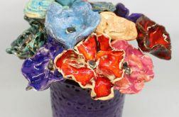 Piękne kwiaty ceramiczne rękodzieło handmade