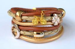bransoletka Złoty rowerek