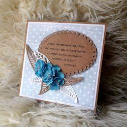 Błękitna kartka z okazji ślubu