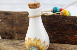 Ceramiczna buteleczka flakonik - wisior