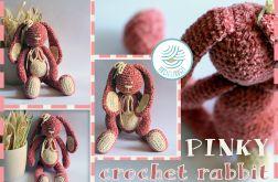Królik przytulanka PINKY RABBIT
