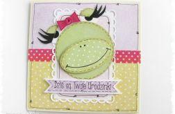 Kartka urodzinowa z żabą