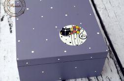 pudełko z czterema przegródkami fioletowe