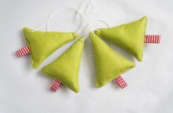 Puchate choinki - 4szt. zielone