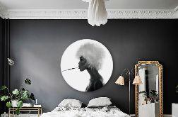 Naomi Cambpell - Obraz na okrągłej ramie