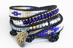 Bransoleta Boho Blue and Gold