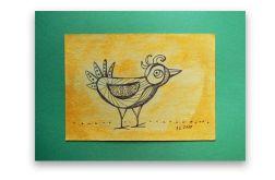 Ptaszek nr 7 - rysunek dekoracyjny