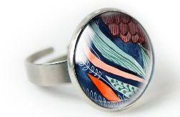 Grass pierścionek z ilustracją
