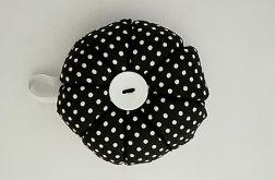 Poduszka na igły igielnik czarny