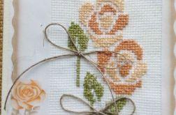 Jesienna róża - kartka okazjonalna