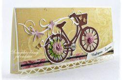 Rower z życzeniami - kartka