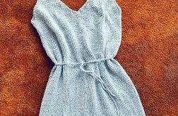 sukienka na drutach w serek