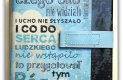 Okładka etui na Biblię czego oko nie widziało+wróbel/Warszawska, Tysiąclecia, Edycja św. Paweł, Nowe Przymierze