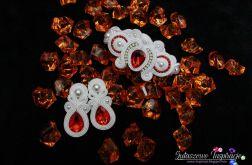 Czerwona biżuteria ślubna